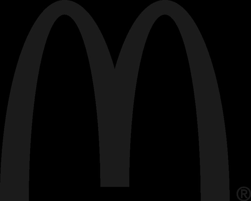 McDonald's black vector