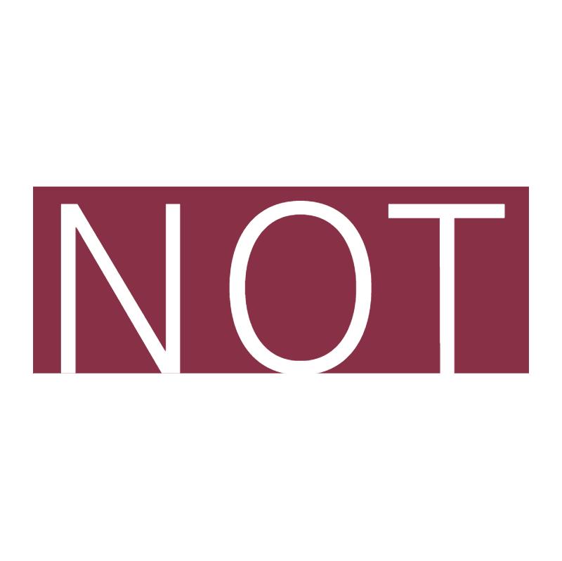 NOT vector logo