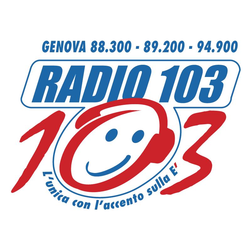 Radio 103 Liguria vector