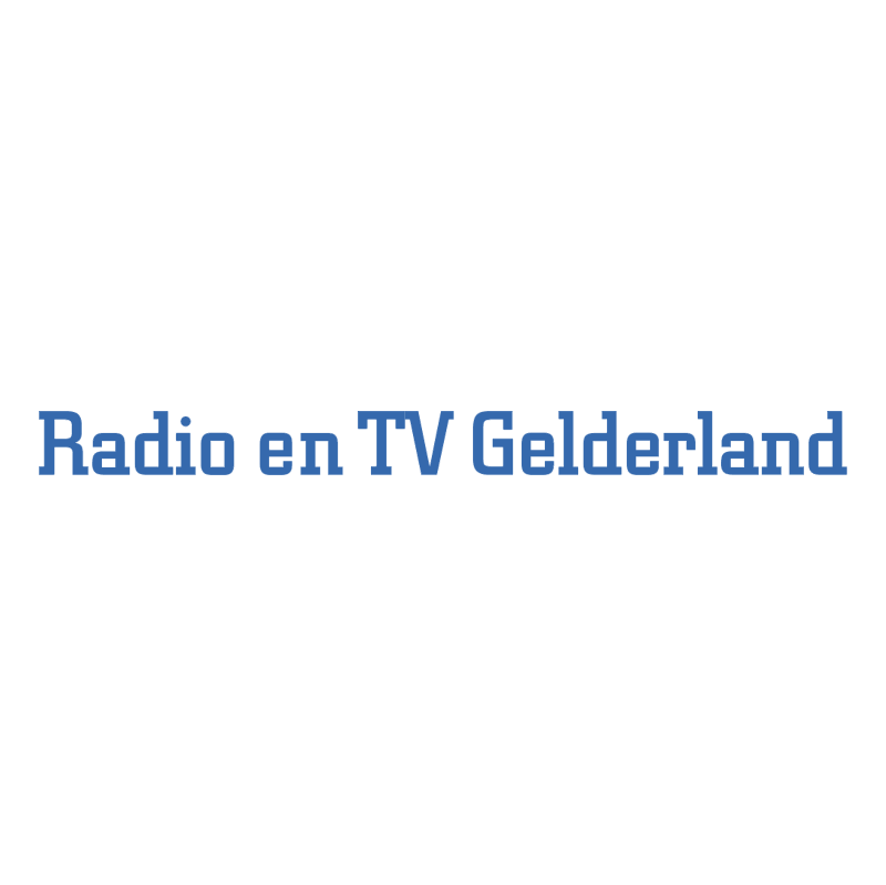 Radio en TV Gelderland vector logo
