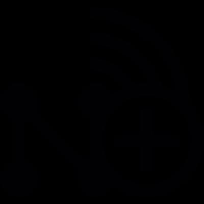 Add wireless network vector logo