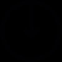 downwards arrow inside a circle vector