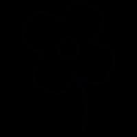 Flower white shape, IOS 7 interface symbol vector