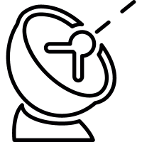 Antenna dish signal, IOS 7 symbol vector