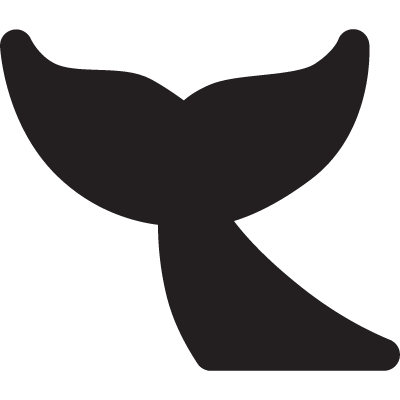 Whale Tail vector logo