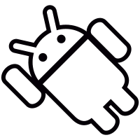 Android with Arm Up Inclined Left vector