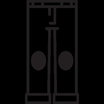 Men Trousers Front View vector logo