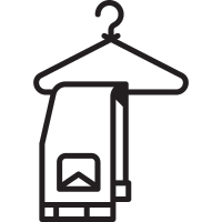 Hanger with Trousers vector