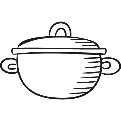 Pot with Cover vector logo