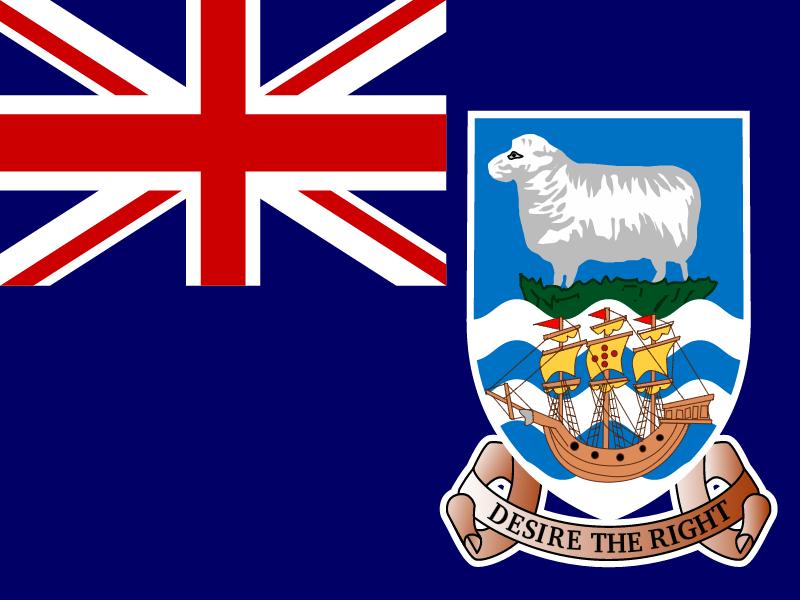 Flag of Falkland Islands vector