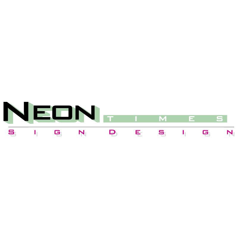 Neon Times vector
