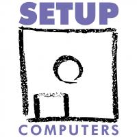 Setup Computers vector