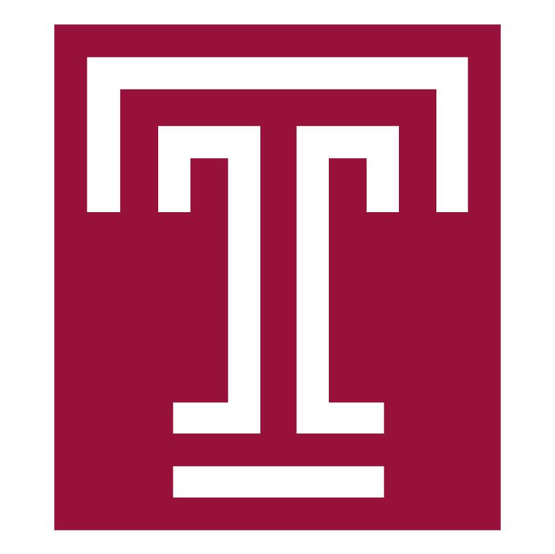 Temple University vector