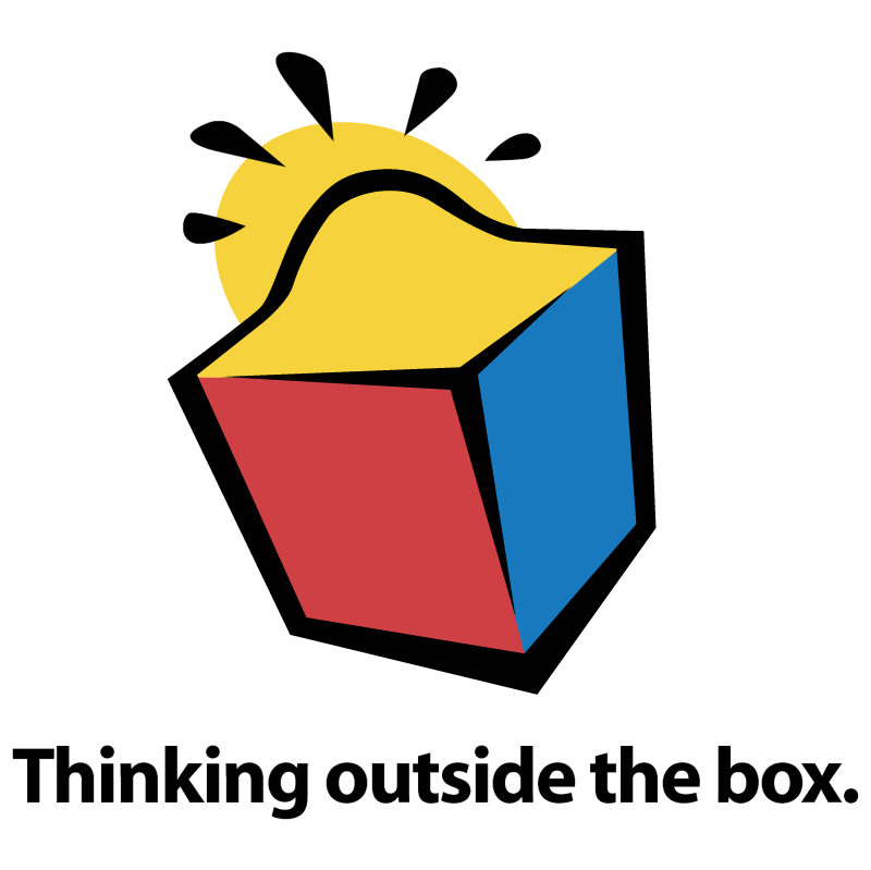 Thinking outside the box vector