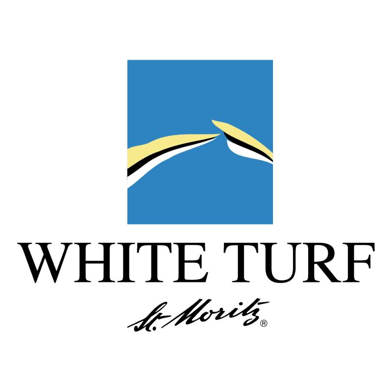 White Turf St Moritz vector