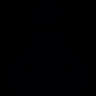 meditation yoga posture vector logo