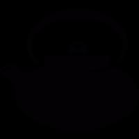 Japanese tea pot vector
