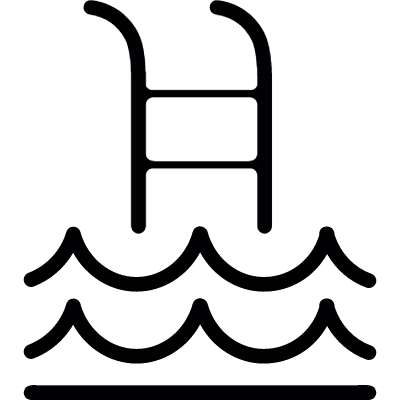 swimming pool ladder vector logo