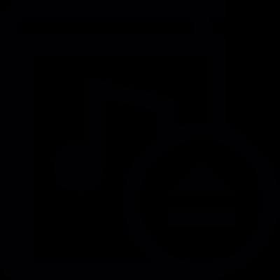 Eject audiobook vector logo