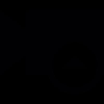 Video upload button vector logo