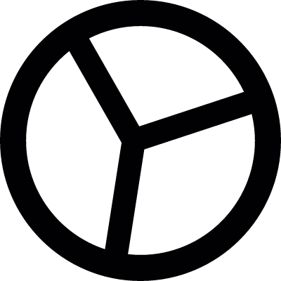 Pie Stats vector logo