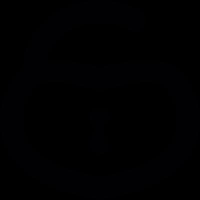 Heart shaped Padlock vector logo