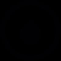 Drop in circle vector