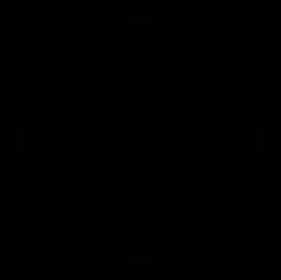 Drop in circle vector logo
