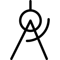 Drawing Compass vector