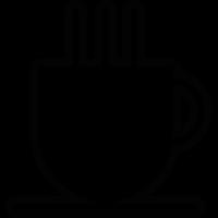 Hot drink in white mug vector