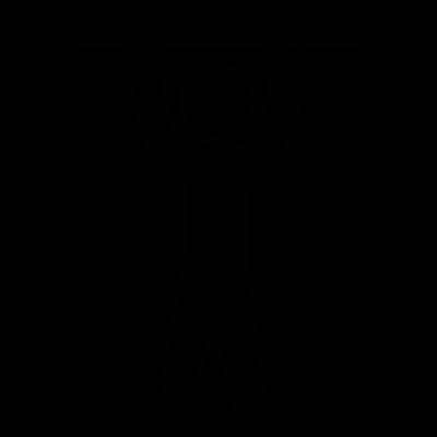 Weight lifter, IOS 7 interface symbol vector logo