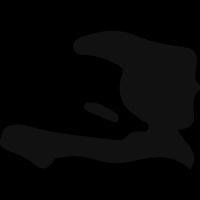 Haiti country map black shape vector