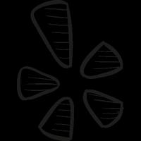 Yelp Draw Logo vector