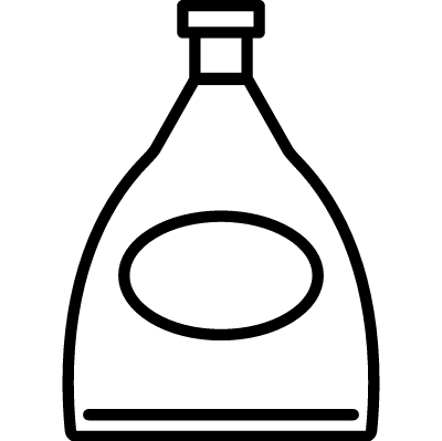 Cognac design bottle vector logo