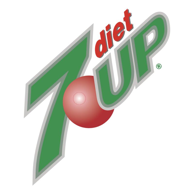 7up Diet vector