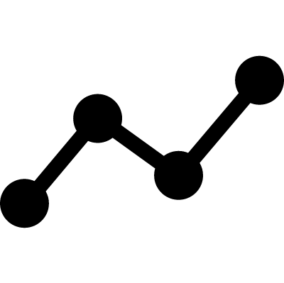Line Chart vector logo