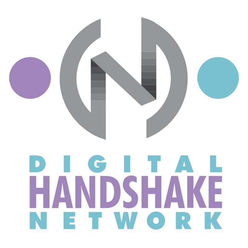 Digital Handshake Network vector