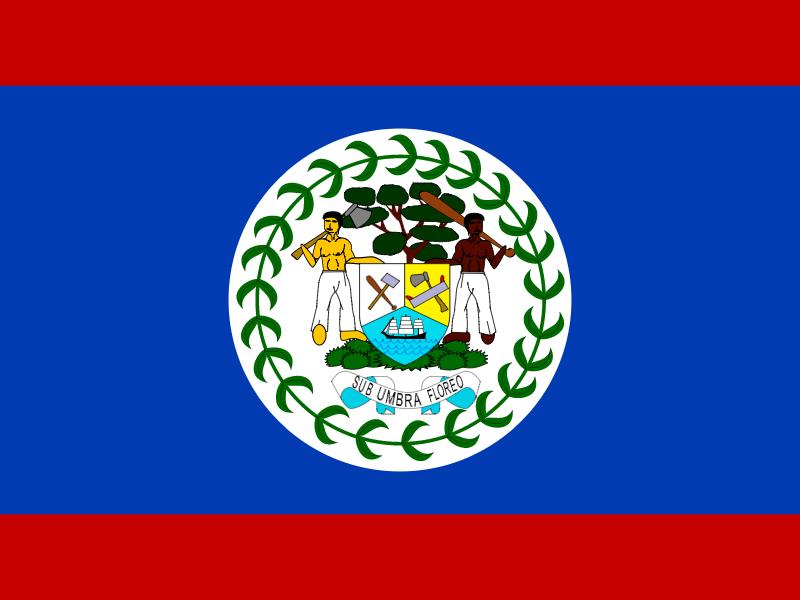 Flag of Belize vector logo