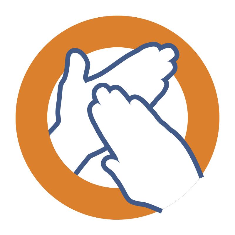 Hands on associates vector logo