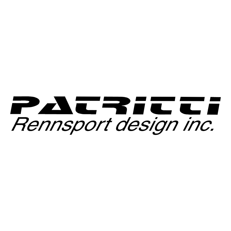 Patritti Rennsport Design vector