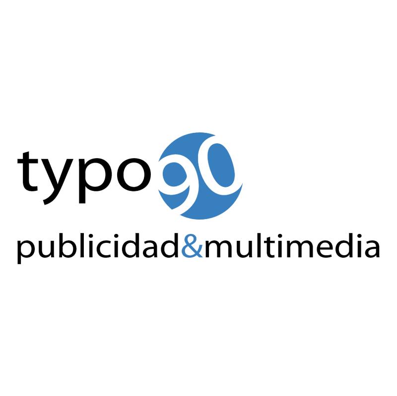 Typo 90 vector