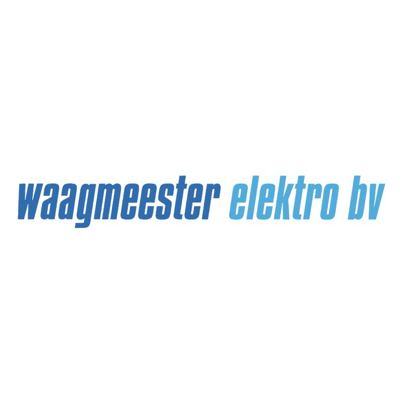 Waagmeester Elektro BV vector logo