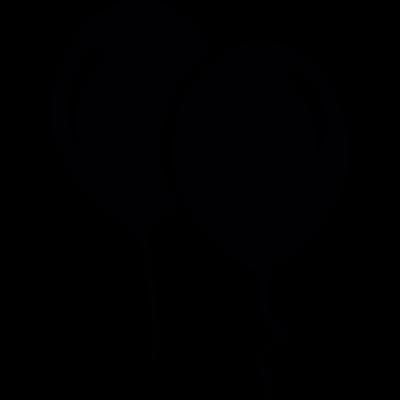 Floating balloons vector logo
