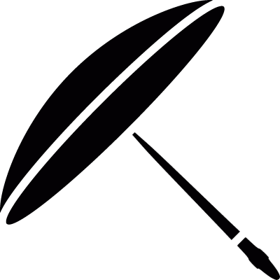 Japanese paper umbrella vector logo
