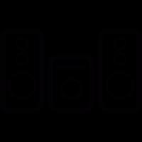 Media audio equipment vector