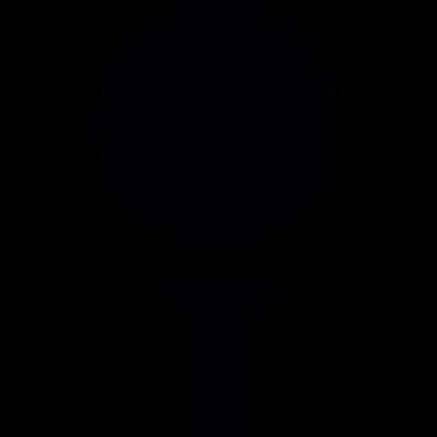 Golf ball vector logo