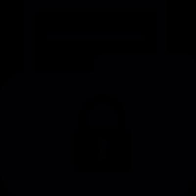 Locked folder vector logo