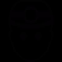 Miner with mining helmet vector