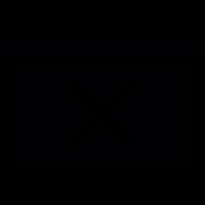 Cross on a rectangle vector logo