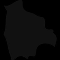 Bolivia black country map shape vector
